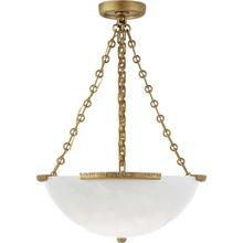 AERIN Mezan 4 Light 22 inch Hand-Rubbed Antique Brass Chandelier Ceiling Light, Medium