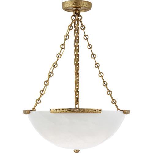 AERIN Mezan 4 Light 22 inch Hand-Rubbed Antique Brass Chandelier Ceiling Light, Medium