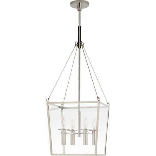 Visual Comfort - Barbara Barry Cochere 4 Light 15 inch Polished Nickel Lantern Pendant Ceiling Light, Medium