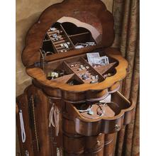 See Details - Shaped Jewelry Armoire-Cherry
