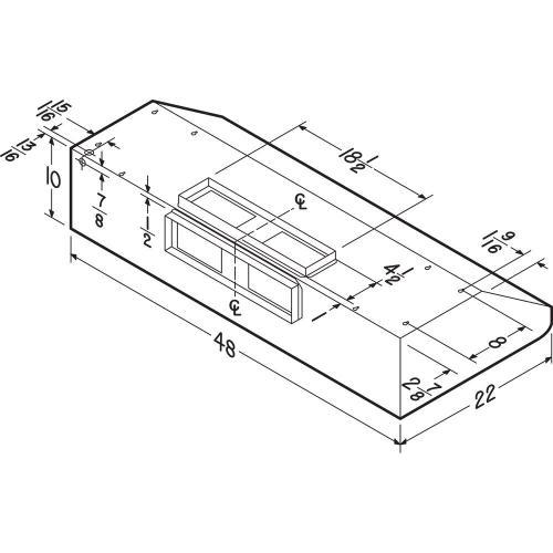 Broan - Broan Elite E64 Pro-Style 48-Inch Under-Cabinet Range Hood w/ 1200 CFM Internal Blower & Light, Stainless Steel
