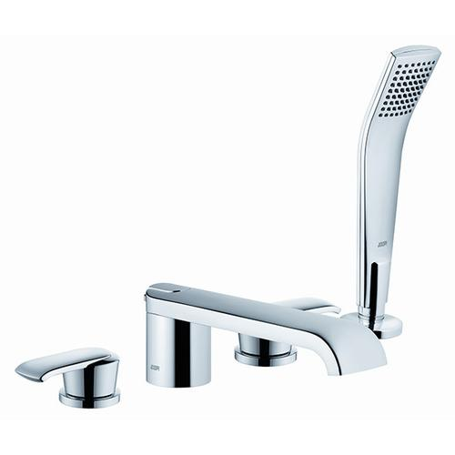 Roman Tub Faucet With Handshower in Satin Nickel