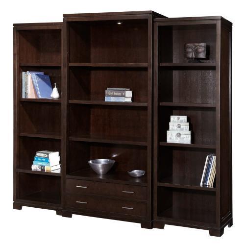 Hekman - 7-9184 office@home Mocha Transitional Bookcase