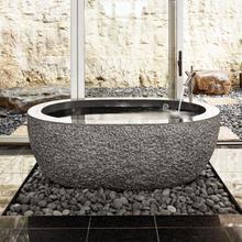 See Details - Oval Bathtub 60 Inch / Black Granite