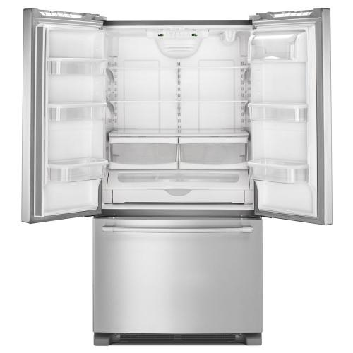 Maytag - 36- Inch Wide Counter Depth French Door Refrigerator - 20 Cu. Ft.