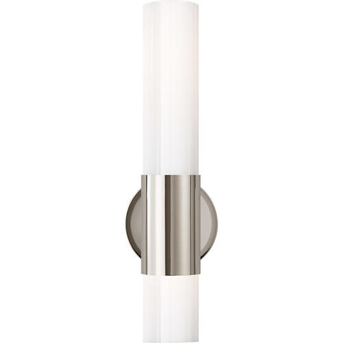 AERIN Penz 2 Light 5 inch Polished Nickel Cylindrical Sconce Wall Light, Medium