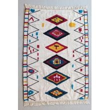 See Details - white rug with fringe