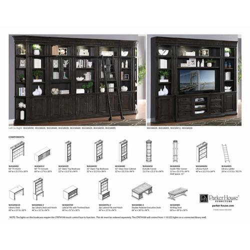 Parker House - WASHINGTON HEIGHTS Outside Corner Bookcase