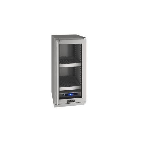 "U-Line - 15"" Refrigerator With Stainless Frame Finish (115 V/60 Hz Volts /60 Hz Hz)"