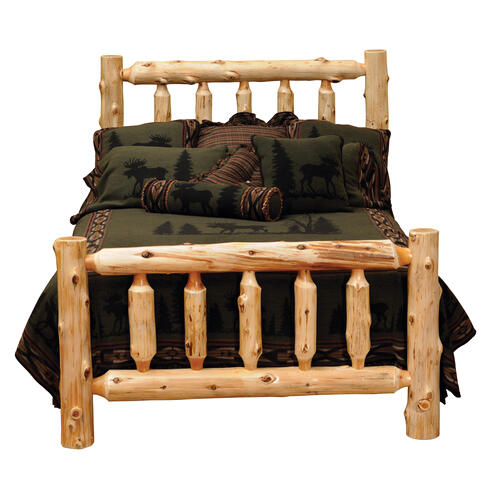 RED HOT BUY! Cedar King Traditional Log Bed - Complete - Traditional Cedar