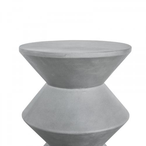 VIG Furniture - Modrest Ruiz Modern Grey Concrete Round Stool