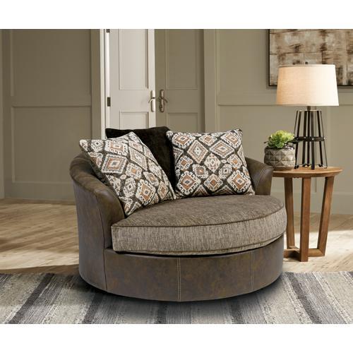 Albone Chocolate Oversized Swivel Accent Chair