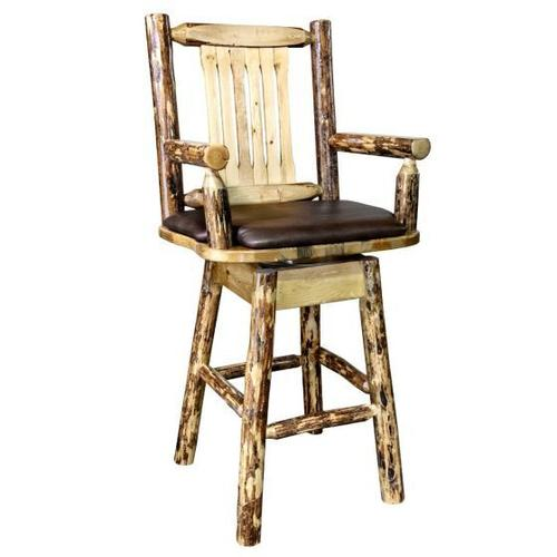 Montana Woodworks - Glacier Country Collection Captains Barstool with Swivel Seat