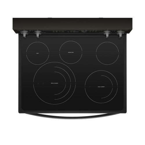 6.4 cu. ft. Smart Freestanding Electric Range with Frozen Bake Technology Fingerprint Resistant Black Stainless