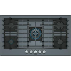 BoschBENCHMARK SERIESBenchmark® Gas Cooktop 36'' Tempered glass, dark silver NGMP677UC