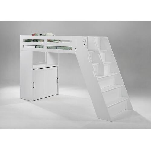 Gallery - Galaxy Loft Bunk in Panels/Steps in White