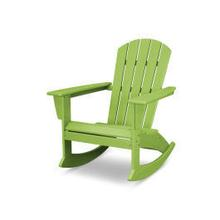 View Product - Nautical Adirondack Rocking Chair in Vintage Lime