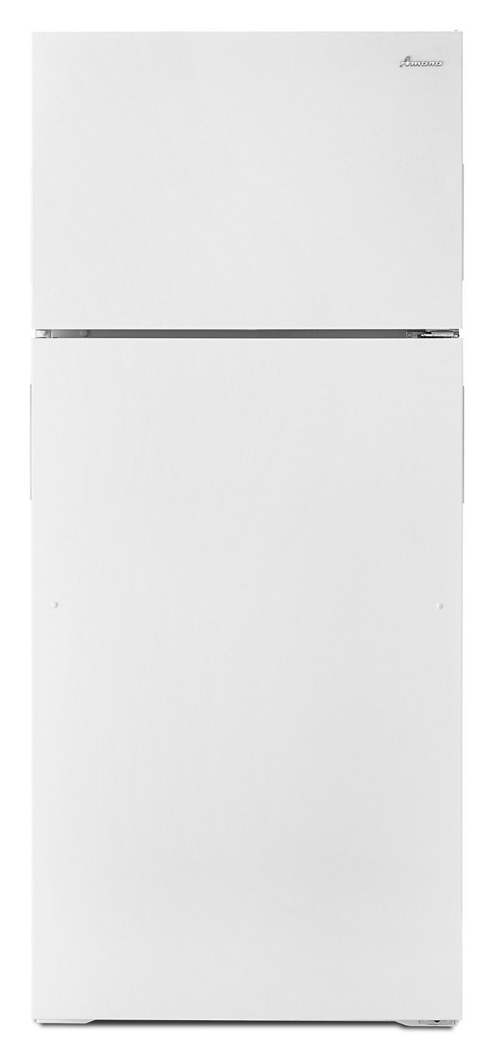 Amana28-Inch Top-Freezer Refrigerator With Gallon Door Storage Bins White