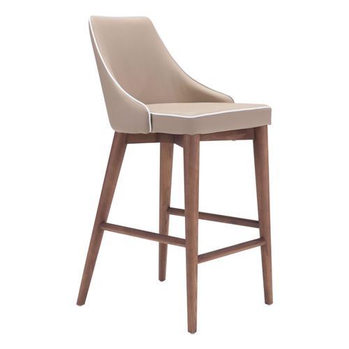 Zuo Modern - Moor Counter Chair Beige