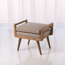 See Details - Lucas Short Bench-Grey Leather