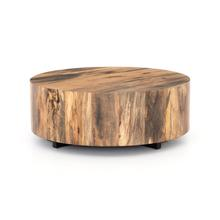 Spalted Primavera Finish Hudson Round Coffee Table