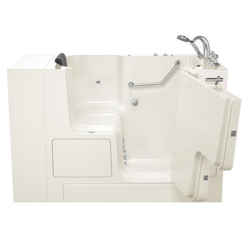 American Standard - Gelcoat Premium Series 32x52 Whirlpool Walk-in Tub with Outward Opening Door, Right Drain  American Standard - Linen