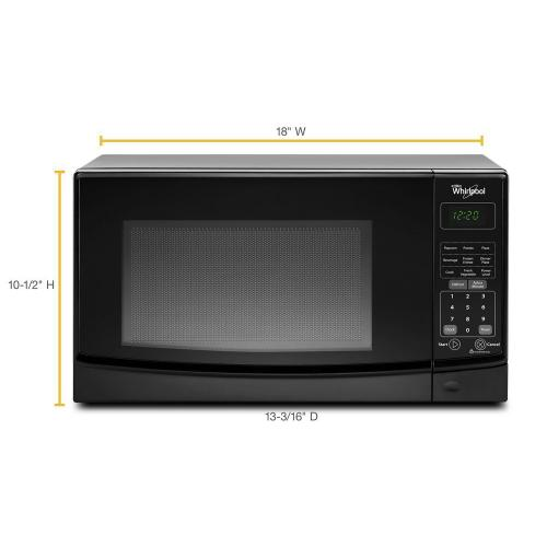 Whirlpool - 0.7 cu. ft. Countertop Microwave with Electronic Touch Controls