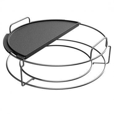 Big Green Egg - Half Moon Cast Iron Plancha Griddle for 2XL, XL, and Large EGGs