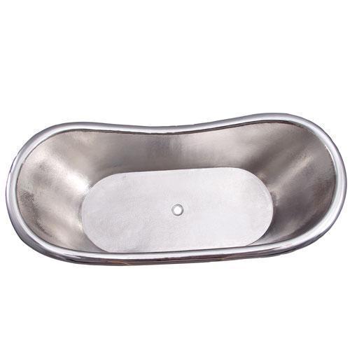 "Ankara 66"" Copper Double Slipper Tub"