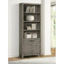 View Product - TEMPE - GREY STONE 32 in. Open Top Bookcase