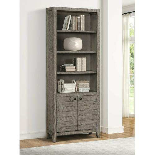 Parker House - TEMPE - GREY STONE 32 in. Open Top Bookcase