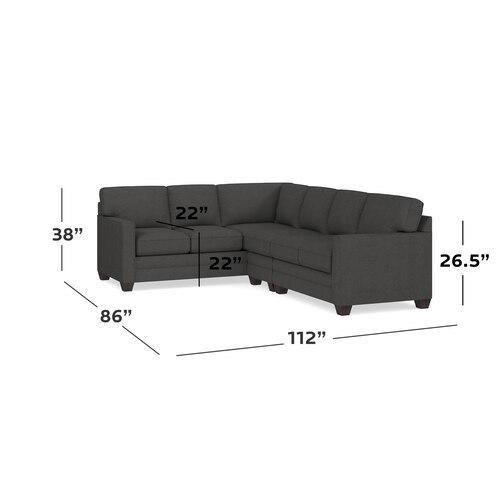 Charcoal Alexander Track Arm Large L Sectional