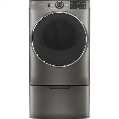 GE® 7.8 cu. ft. Capacity Smart Front Load Gas Dryer with Steam and Sanitize Cycle
