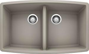 Performa Equal Double Bowl - Concrete Gray Product Image