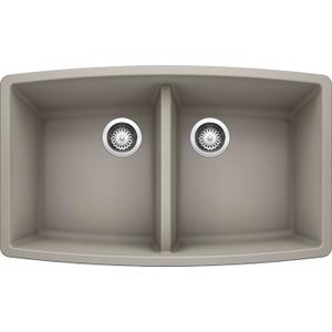 Performa Equal Double Bowl - Concrete Gray