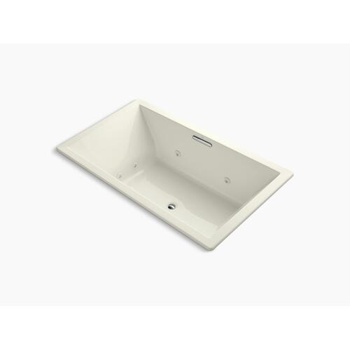 "Biscuit 72"" X 42"" Heated Whirlpool Bath With Center Drain"