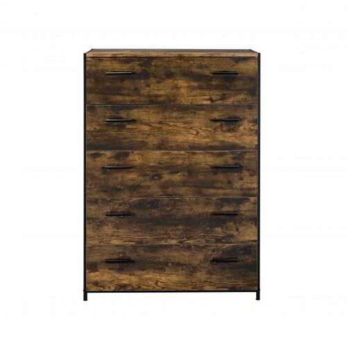 ACME Juvanth Chest, Rustic Oak & Black Finish - 24266