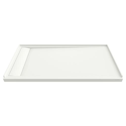 American Standard - Townsend 60x36-inch Solid Surface Shower Base - Left Drain  American Standard - Soft White