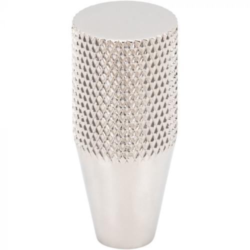Vesta Fine Hardware - Beliza Conical Knurled Knob 1/2 Inch Polished Nickel Polished Nickel