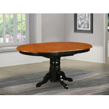 """Oval Table with 18"""" Butterfly leaf -Black and Cherry ."""