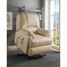 ACME Ixora Recliner w/Power Lift & Massage - 59286 - Beige PU