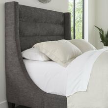 JACOB - LUXE DARK GREY Queen Headboard 5/0