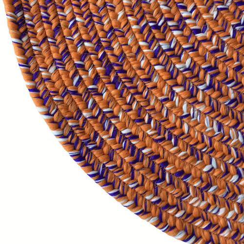Team Spirit Orange Regalia Braided Rugs