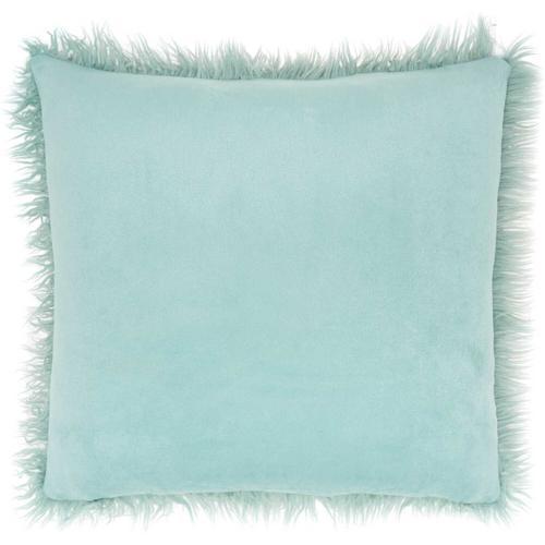 """Faux Fur Bj101 Celadon 17"""" X 17"""" Throw Pillow"""