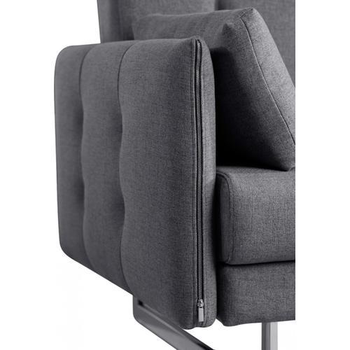 VIG Furniture - Divani Casa Lennox - Modern Grey Fabric Right Facing Sectional Sofa Bed
