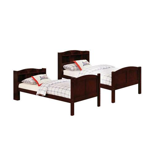 Coaster - Parker Transitional Cappuccino Twin-over-twin Bookcase Bunk Bed