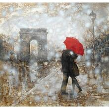 Modrest ADC8073 Rain Embrace Oil Painting On Canvas and Metal