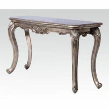 ACME Chantelle Sofa Table (No Granite) - 80542 - Antique Platinum
