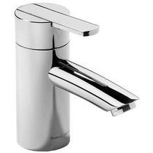 "Brushed Gold Unlacquered Single lever lavatory mixer without pop-up waste, 5"" spout length"