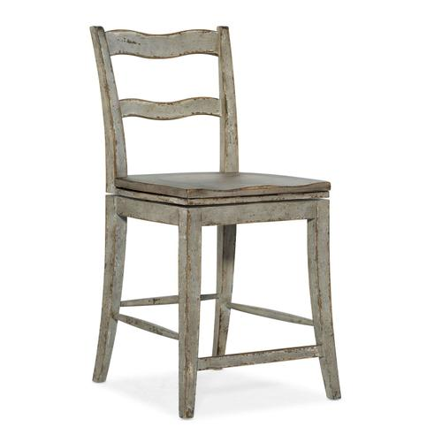 Dining Room Alfresco La Riva Ladder Back Swivel Counter Stool